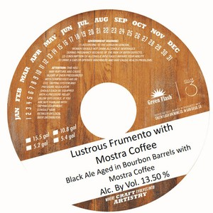 Green Flash Brewing Company Lustrous Frumento With Mostra Coffee