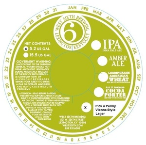 West Sixth Brewing Pick A Penny Vienna Style