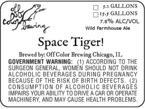 Off Color Brewing Space Tiger!