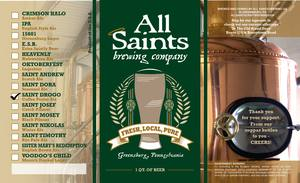 All Saints Brewing Co. Saint Drogo