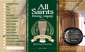 All Saints Brewing Co. Saint Nikolas