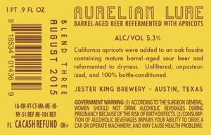 Jester King Brewery Aurelian Lure