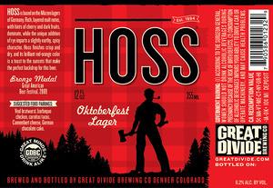 Great Divide Brewing Company Hoss Oktoberfest