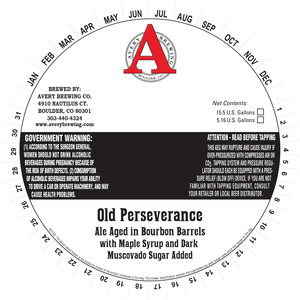Avery Brewing Co. Old Perseverance