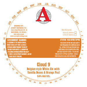 Avery Brewing Co. Cloud 9