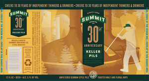 Summit Brewing Company 30th Anniversary Keller Pils