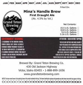 Grand Teton Brewing Mina's Handle Brew