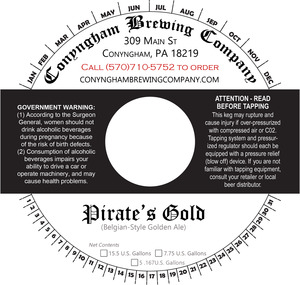 Conyngham Brewing Company Pirate's Gold