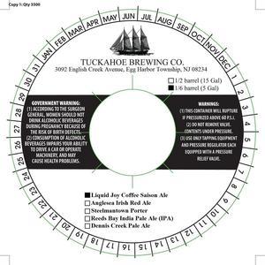 Tuckahoe Brewing Company Liquid Joy Coffee Saison Ale