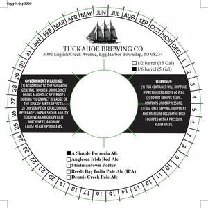 Tuckahoe Brewing Company A Simple Formula Ale