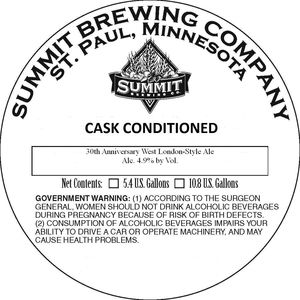 Summit Brewing Company 30th Anniversary West London-style Ale