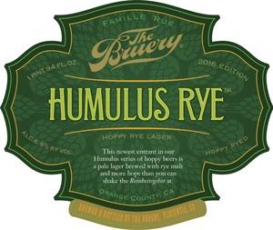 The Bruery Humulus Rye