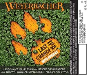 Weyerbacher Last Chance IPA With Apricot