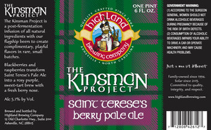 Highland Brewing Co. The Kinsman Project Saint Terese's