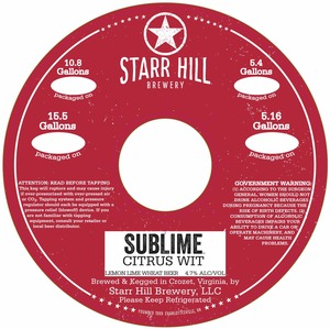 Starr Hill Sublime