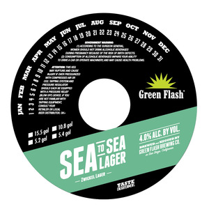 Green Flash Brewing Company Sea To Sea Lager