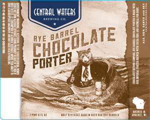 Central Waters Brewing Company Rye Barrel Chocolate Porter