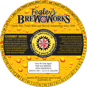 Fegley's Brew Works Here We Gose Again March 2016