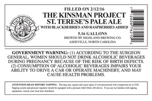 Highland Brewing Co. The Kinsman Project St. Terese's