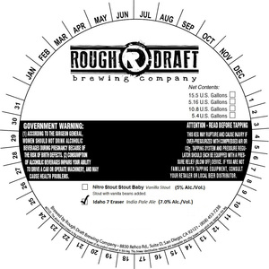 Rough Draft Brewing Company Idaho 7 Eraser