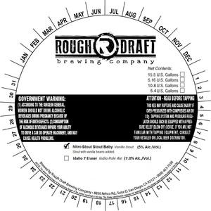 Rough Draft Brewing Company Nitro Stout Stout Baby