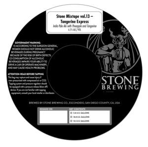 Stone Mixtape Vol.13 Tangerine Express