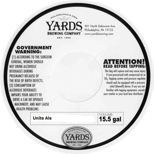 Yards Brewing Company Unite Ale