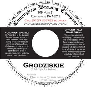 Conyngham Brewing Company Grodziskie