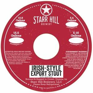 Starr Hill Irish-style Export Stout