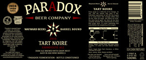 Paradox Beer Company Tart Noire