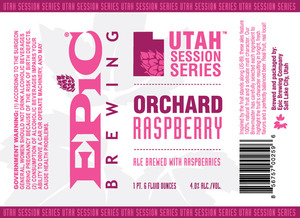 Epic Brewing Company Orchard Raspberry