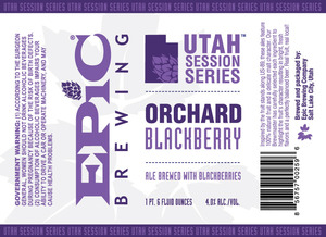 Epic Brewing Company Orchard Blackberry
