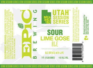Epic Brewing Company Sour Lime Gose