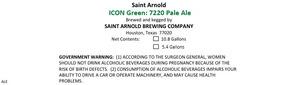 Saint Arnold Brewing Company Icon Green 7220 Pale Ale