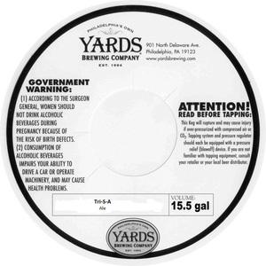 Yards Brewing Company Tri-s-a