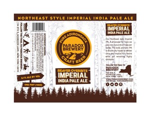 Paradox Brewery Beaver Overbite Imperial India Pale Ale