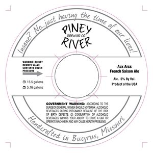 Piney River Brewing Co. LLC Aux Arcs