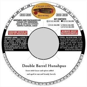 Cigar City Brewing Double Barrel Hunahpus