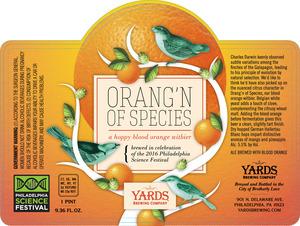 Yards Brewing Company Orang'n Of Species