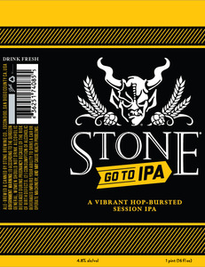 Stone Go To Ipa March 2016