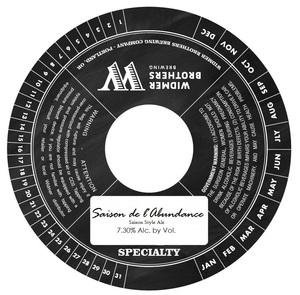 Widmer Brothers Brewing Company Saison De L'abundance