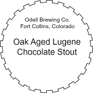 Odell Brewing Company Oak Aged Lugene Chocolate Milk Stout March 2016