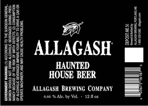 Allagash Brewing Company Haunted House Beer