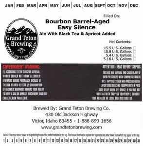 Grand Teton Brewing Bourbon Barrel-aged Easy Silence