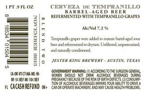 Jester King Cerveza De Tempranillo