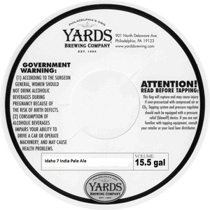 Yards Brewing Company Idaho 7 India Pale Ale