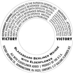 Victory Blackboard Berliner Weisse Elderflower