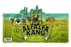 Off Color Brewing Alfalfa Kang