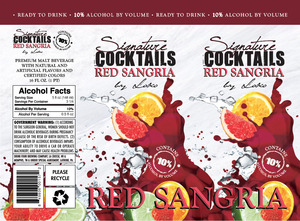 Signature Cocktails By Loko Red Sangria