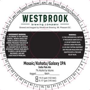 Westbrook Brewing Company Mosaic/kohatu/galaxy IPA